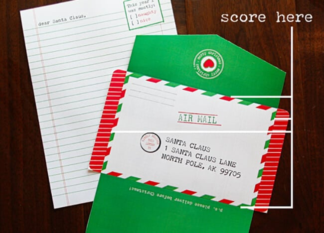 Make Your Own Keepsake Santa Letter Free Printable - Popsicle Blog