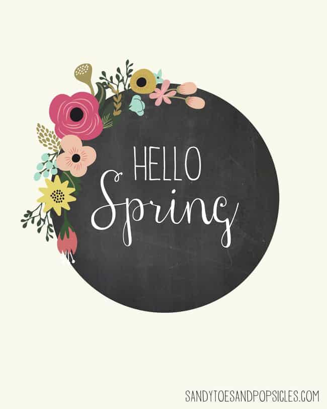 Hello Spring Free Spring Printable - Popsicle Blog