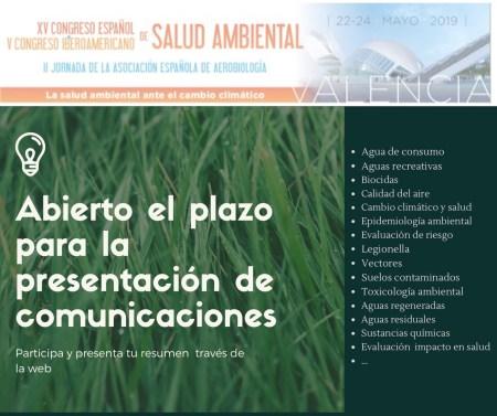 Abierto el plazo de presentación de resúmenes para el Congreso de Salud Ambiental