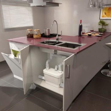 Sanivite Easy Solution For A Kitchen Installation Saniflo