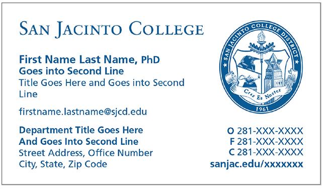 Business Cards San Jacinto College