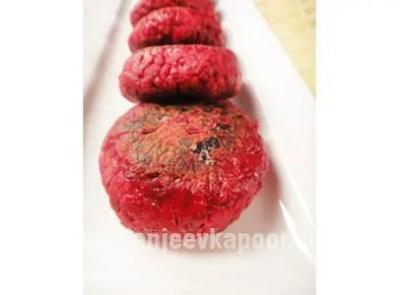 Amla Aur Beetroot Ki Tikki Vegetarian Recipe by Master Chef Sanjeev Kapoor.