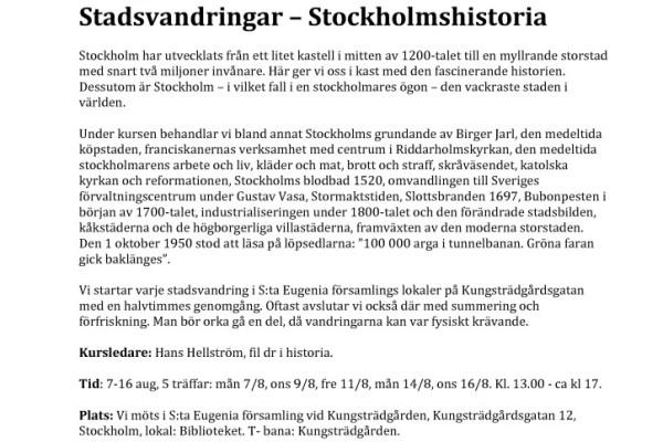 thumbnail of Stockholmsvandringar