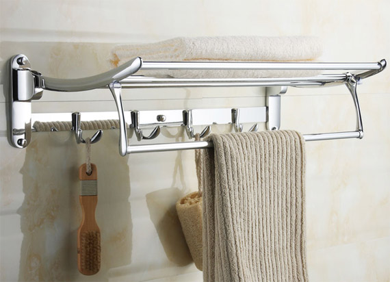 Bathroom Shelves With Towel Rack With Innovative Example