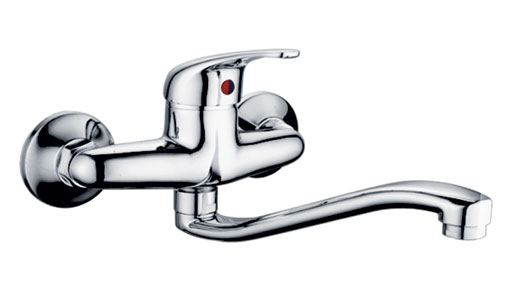 Wall Mounted Kitchen Faucet u2013 66306 Single Handle Wall-Mount - wall mount kitchen faucet
