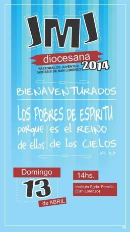 Afiche de invitación para este domingo 13 de abril