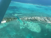 Aerial View of Caye Caulker Belize