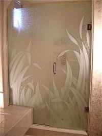 etched glass shower - Sans Soucie Art Glass