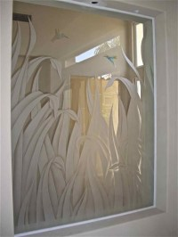 etched glass shower - Sans Soucie Art Glass
