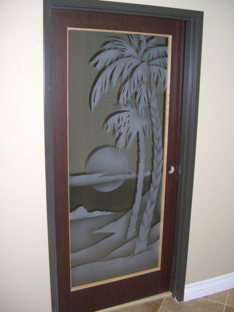 etched glass door