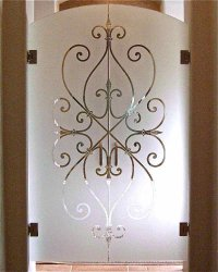 etched glass interior doors