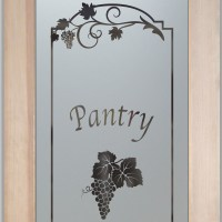 Frosted Glass Pantry Door Inserts