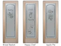 etched glass pantry door