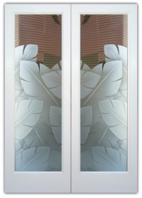 Double Entry Doors with Frosted Glass Designs - Sans ...