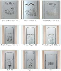 decorative glass pantry door - Sans Soucie Art Glass
