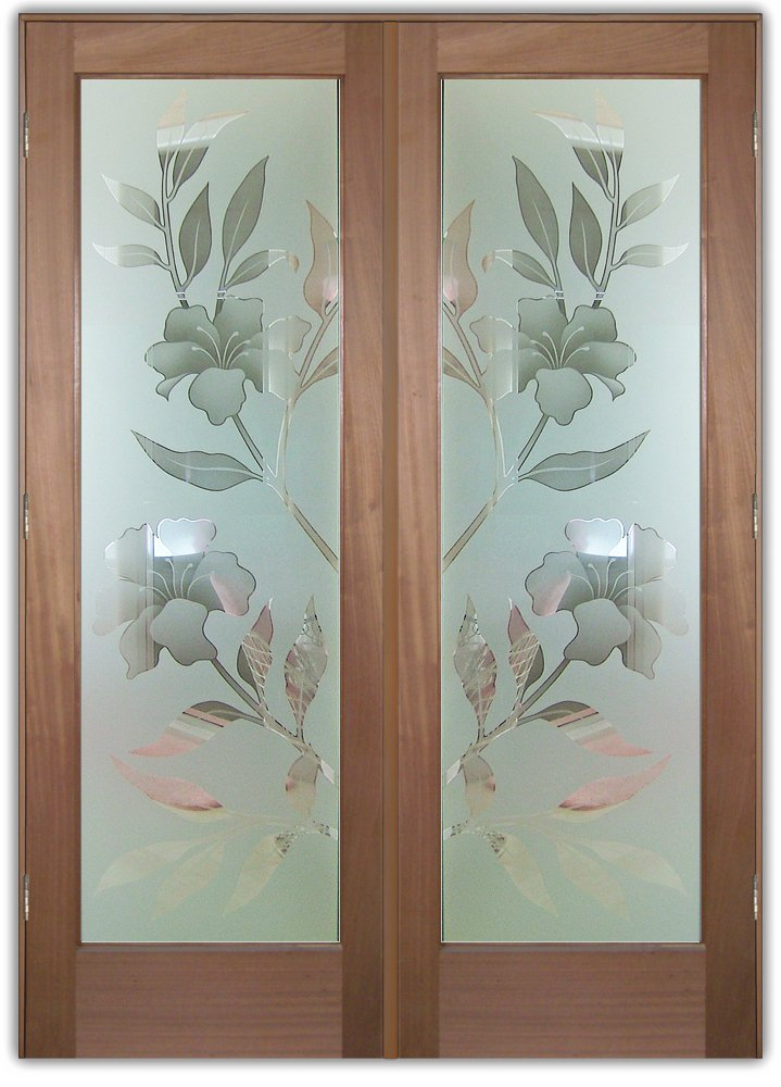 Etched Glass Designs with a Floral Feel
