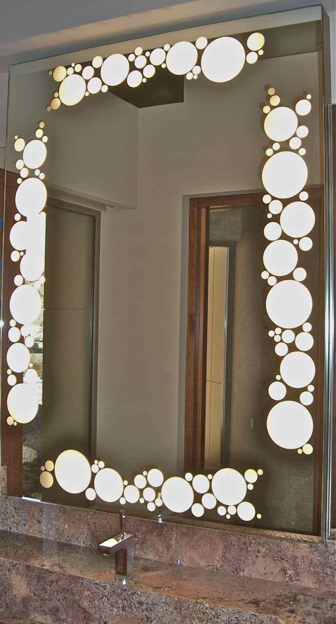 Bubbles border back lit mirrors