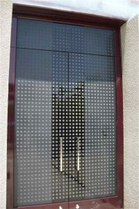 Squares Pattern L Frame Glass Door Inserts Sans Soucie