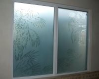 Date Palm Pncls Glass Window Etched Glass Western Decor