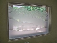 Galloping Glass Window Etched Glass Western Decor
