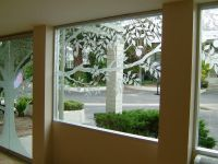 Tree Of Life Glass Windows Etched Glass Rustic Design