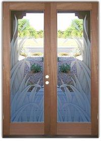 Reeds 2D Etched Glass Doors Tropical Decor l Sans Soucie