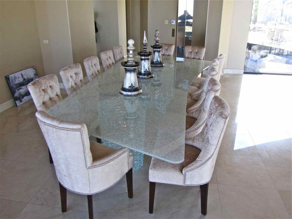 shattered glass dining table