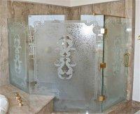 etched glass showers - Sans Soucie Art Glass