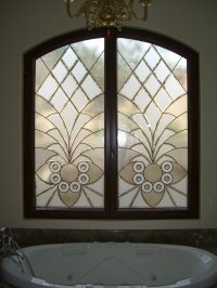 Etched Glass Windows - Sans Soucie Art Glass