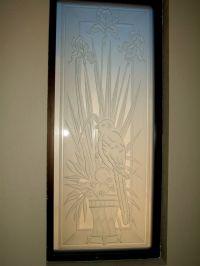 Iris Perch Etched Glass Window l Sans Soucie