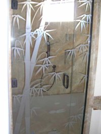 Bmbo Frmls Glass Shower Doors Etched Glass Asian Decor