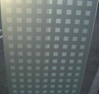 Frosted Glass Door Squares Pattern :: Etched Glass Sans Soucie
