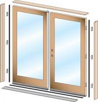 Pre-Hung Exterior Doors Pair