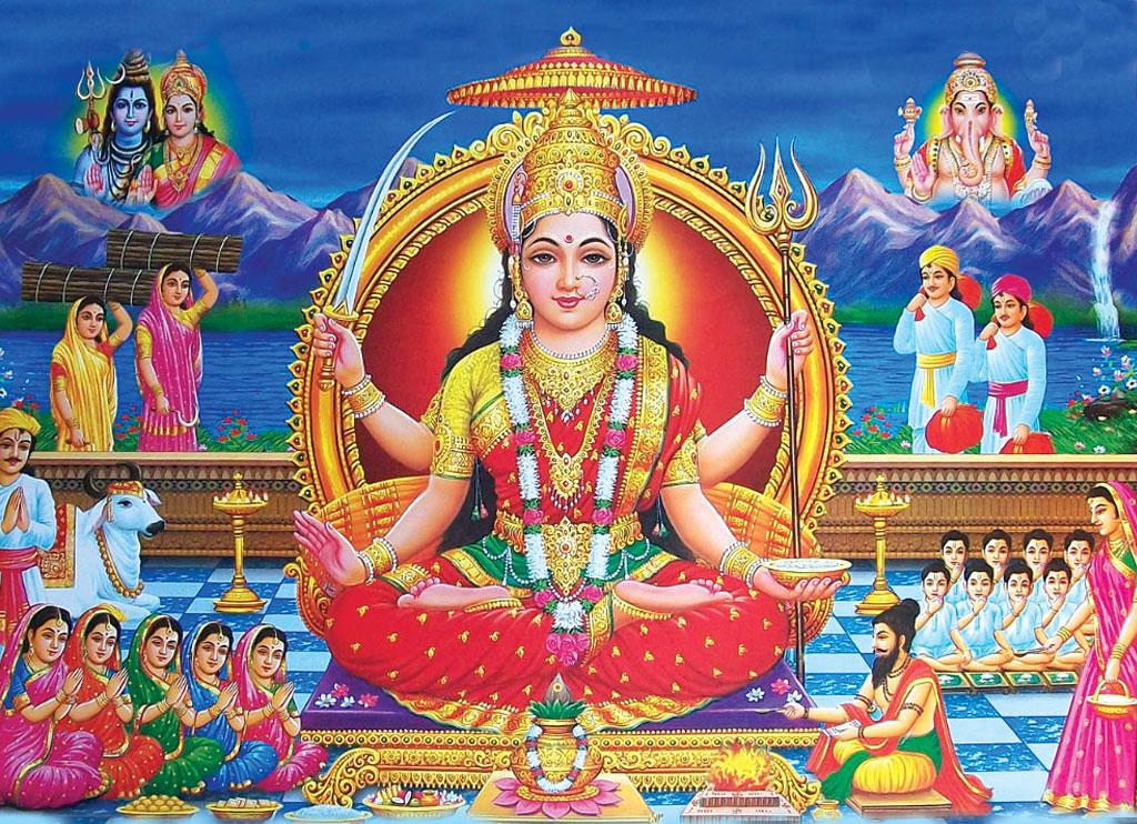 Happy Teej Hd Wallpapers Jai Santoshi Mata Santoshi Mata Puja Santoshimata Org