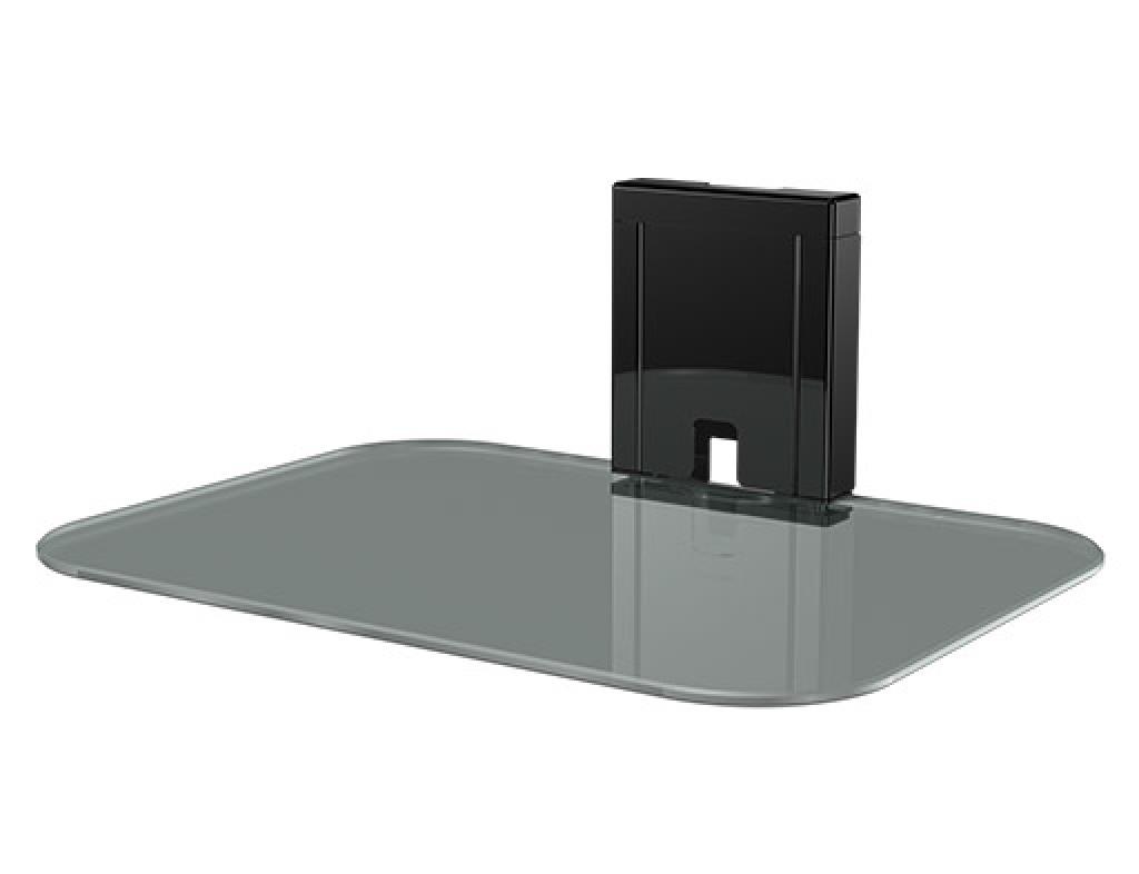 Sanus Tempered Glass On Wall Av Component Shelf
