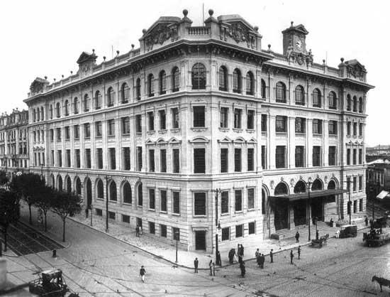 Palácio dos Correios em outubro de 1922.