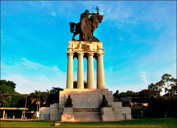 Monumento, atualmente, na USP.