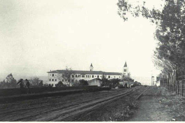 Rua Monte Alegre no começo dos anos 20: o abrigo das freiras se tornou a casa dos estudantes