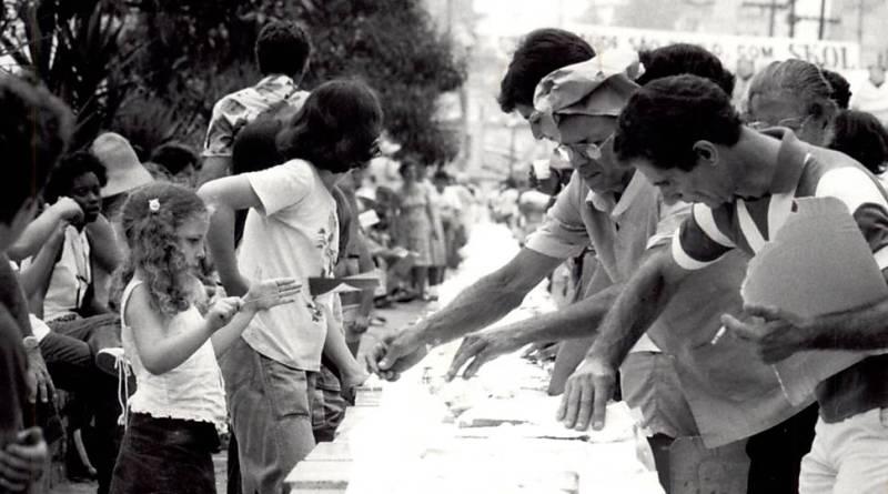 Segunda vez em que o bolo foi feito em 1986