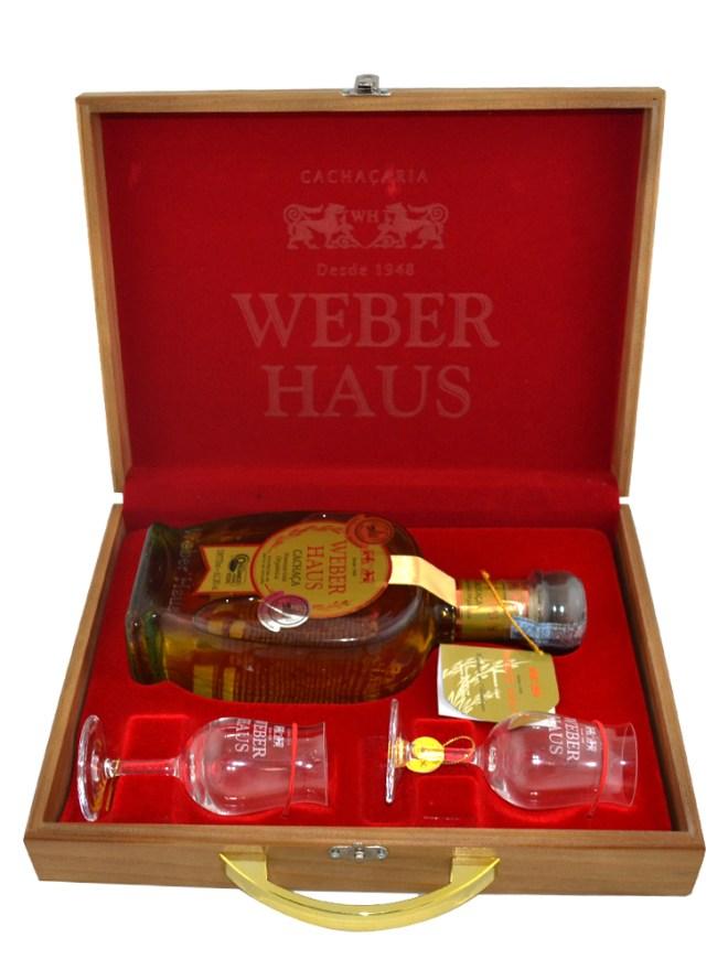 Kit Madeira Weber Haus com duas taças Premium