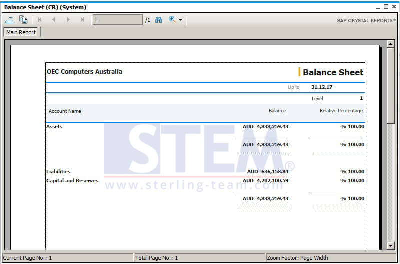 New Crystal Report Templates for Financial Reports SAP Business