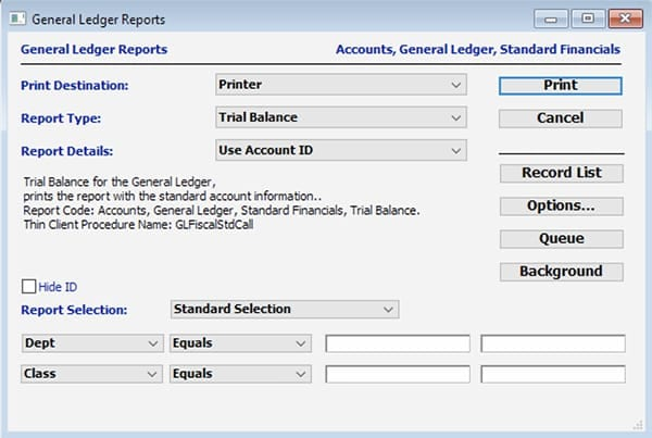 General Ledger SapphireOne ERP CRM Accounting Software