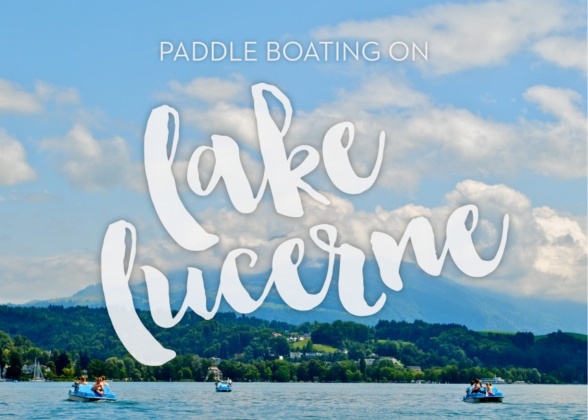 Paddle Boating on Lake Lucerne