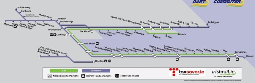 DART & Commuter Train routes