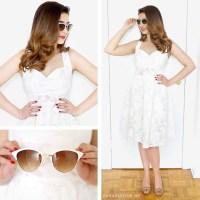 Retro White Dress Outfit + Tobi Haul
