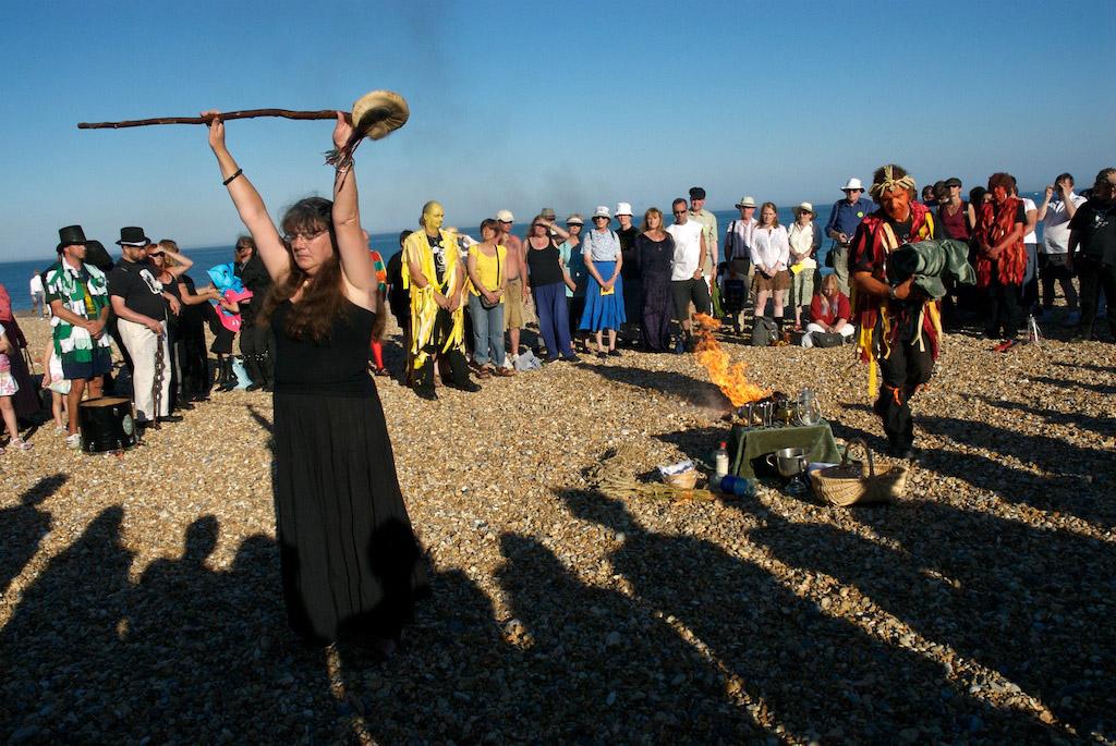 Lammas ritual, Eastbourne, Sussex