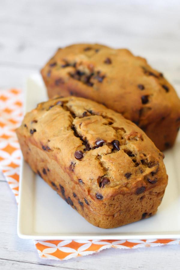 gluten free vegan chocolate chip pumpkin banana bread2