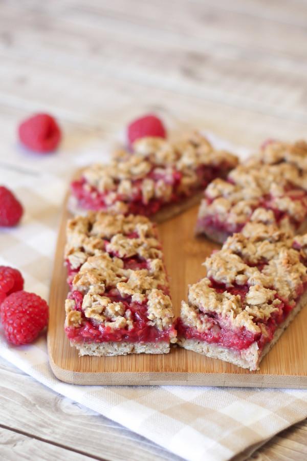 gluten free vegan raspberry oat breakfast bars2
