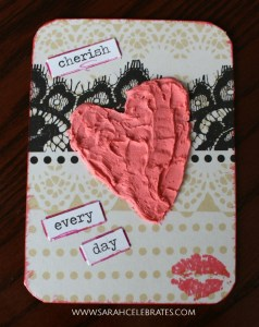 Valentines Artist Trading Cards - Cherish Every Day #MixedMedia #atcs