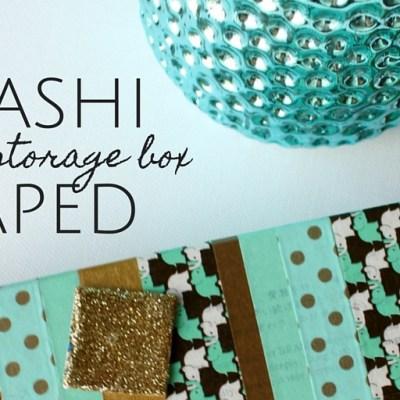 Washi Taped Inchie Storage Box